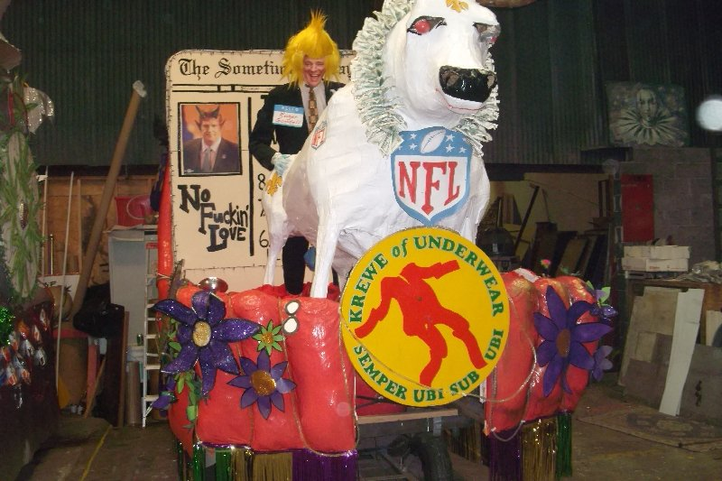 2013 Krewe of Underwear Float