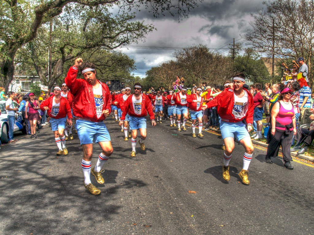610 Stompers on Mardi Gras parade route