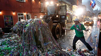 Beads are Collected by Front Loader