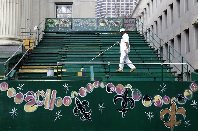 Grandstand Seating Downtown New Orleans During Painting