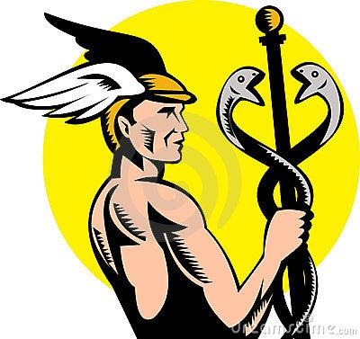 Hermes with Caduceus
