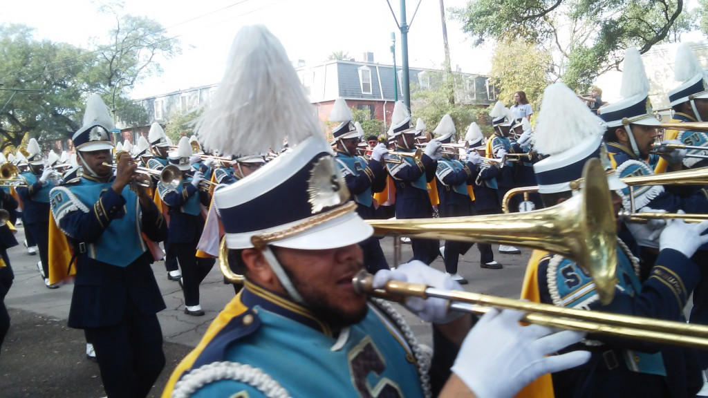 High School Marching Band on St Charles Avenue