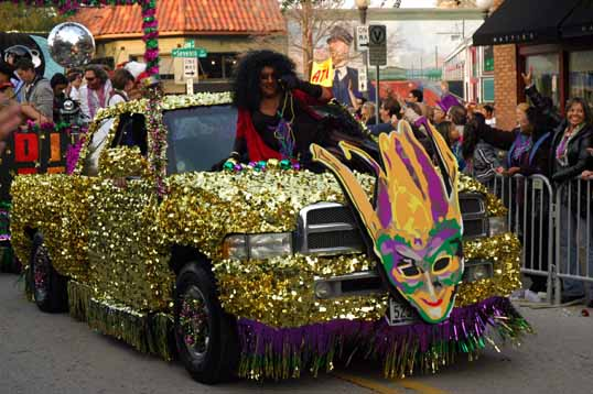 Illegal car rider for Mardi Gras 2014