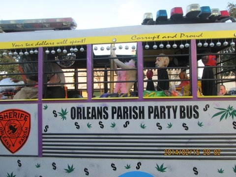 Orleans Parish Party Bus 2014