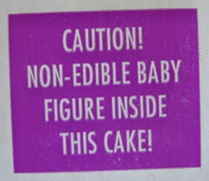 King Cake Warning Sign