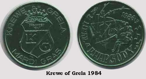 Krewe of Grela Doubloon