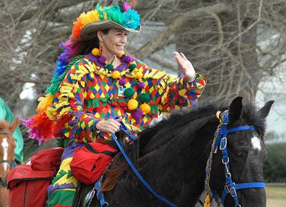 Cajun Mardi Gras Rider in Eunice, LA!!