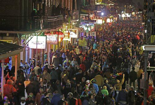 Mardi Gras in the French Quarter