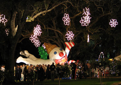 Mr. Bingle at Celebration in the Oaks