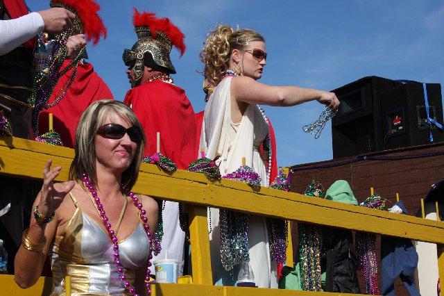 Pensacola Mardi Gras Parade Scene