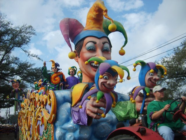 Traditional Jester Float of REX, the King of Carnival!