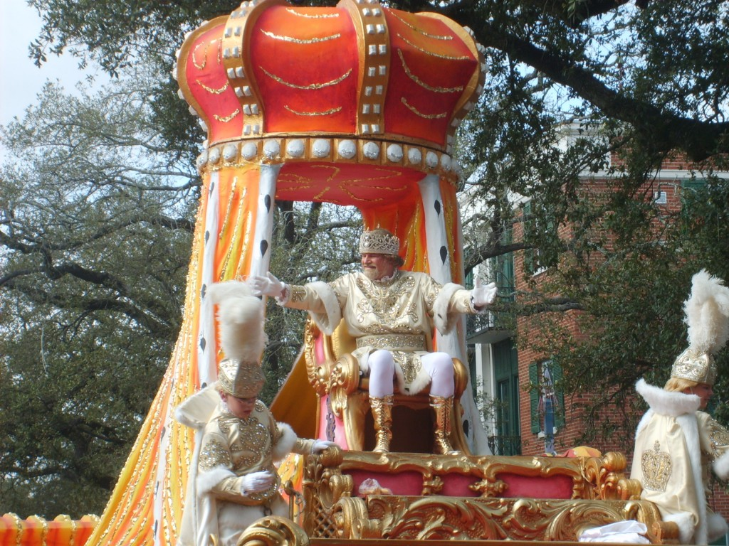 REX on Mardi Gras Day on St Charles Avenue in New Orleans, Louisiana