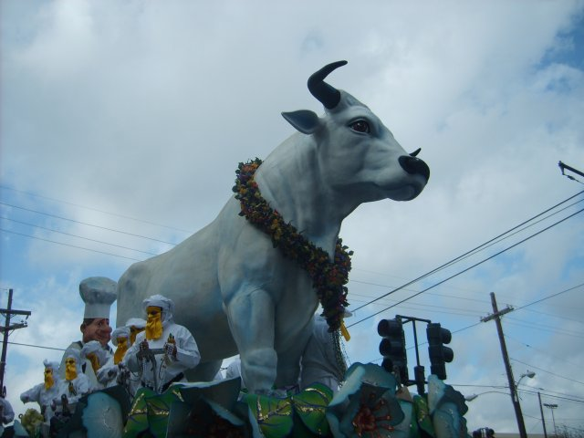 Rex Boeuf Gras Float built by Kern Artists