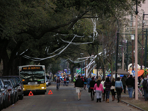 Tucks toilet paper hangs on St Charles Avenue