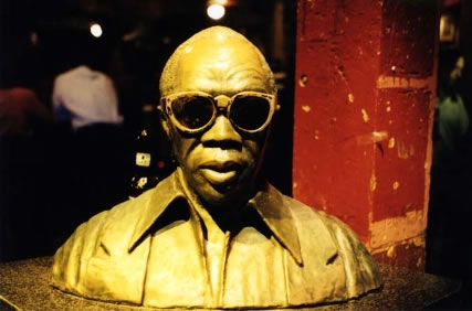 Bust of Fess in Tipitina's