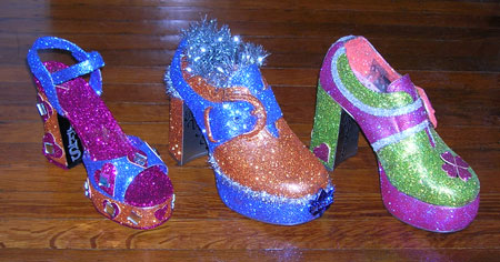 Muses hand decorated shoes
